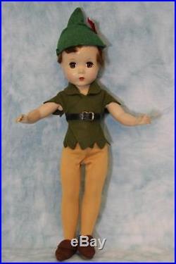 14 1953 Madame Alexander Peter Pan from Walt Disney Hard Plastic All Original