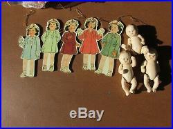 1935 Madam Alexander's Vintage Dionne Quintuplet Dolls 5 original clothes 7.5 in