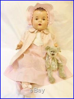 1935 Madame Alexander RARE 24 Dionne Quint Quintuplet Yvonne Compo Baby Doll
