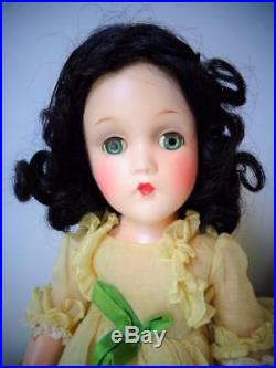 1935 Madame Alexander Scarlett O'Hara 14 Composition Doll Superb! Yellow Dress
