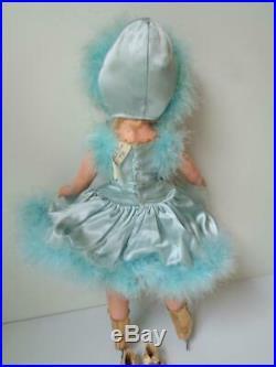 1948 1950 Madame Alexander BABS SKATER 15 Doll Margaret Face BLUE OUTFIT