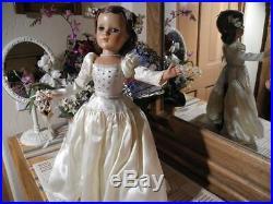 1949 Lucy Bride Doll Madame Alexander Suntan, Drop Waist Gown Shoes Hose Panties
