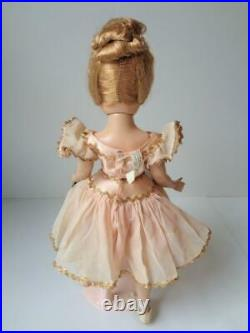 1950 Madame Alexander Nina Ballerina 14 Doll Tagged Pink Costume Foil Wrist Tag