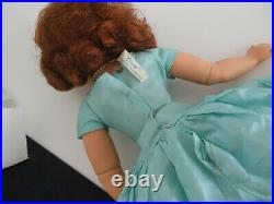 1950'S 20 MADAME ALEXANDER CISSY DOLL With AQUA TAGGED DRESS
