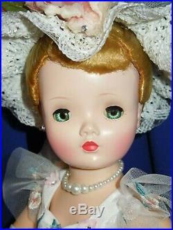 1950's Madame Alexander 20 blonde Cissy doll + new garden party ensemble