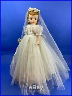 1950's Vintage Madame Alexander Tagged Cissy Bride