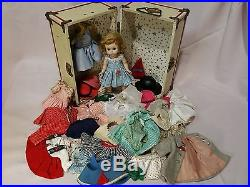 1950s Madame Alexander Doll with Trunk and clothes Alexanderkins