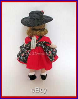 1953-54 SLNW Madame Alexander-kins in Tagged Floral Pinafore EXCEPTIONAL
