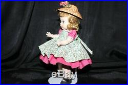 1953 SLNW Madame Alexander Wendy in a School Outfit with Straw Hat