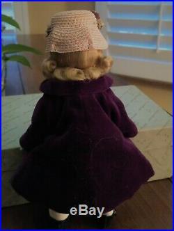 1956 Alexander Wendy Bkw Rare #625 In Dark Purple Coat And Fabulous Hat Ensemble