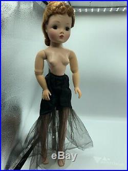 1956 Madame Alexander CISSY DOLL Black Torso Mermaid Gown