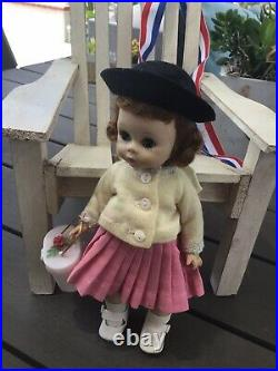 1959 Madame Alexander Kins Bent Knee Walker 8Doll Wendy Dress ORIGINAL NMINT