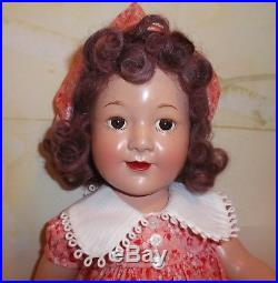 19 JANE WITHERS Madame Alexander COMPOSITION Doll 30's era Child Actress