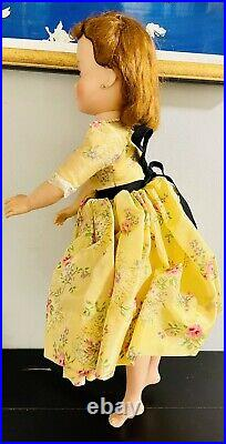 20 Cissy Madame Alexander Doll WithTagged Yellow Taffeta Floral Dress- 1950s