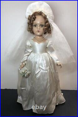 21 Vintage Antique Madame Alexander Bride Wedding All Original Tagged Compo #SX