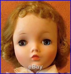 50's Vtg Madame Alex Porcelain Face Cissy Doll All Orig in Satin, One Owner