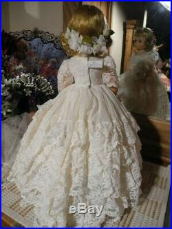 60s Elise Bride Doll Madame Alexander Marybel Face Blonde Veil TAGGED Gown Shoes