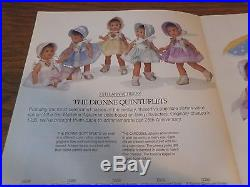 75th Anniversary Dionne Quintuplets Madame Alexander Nrfb Set Of 5 1998