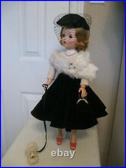 A Lovely Example Of Mme. Alexander's Cissy Walks The Dog- With Extras