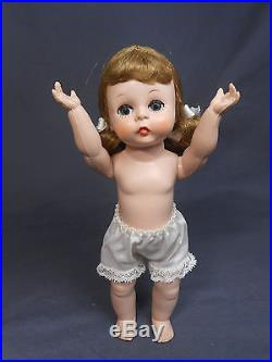 Absolutely Adorable Vintage Madame Alexander Kins Strung Doll with Side Bunches