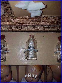 Antique Dionne Quintuplets Composition Dolls Set NRFB 1930s Effanbee Patsy Clone