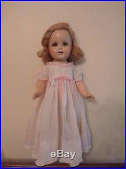 Antique Madame Alexander Princess Elizabeth Doll Composition Original Dress Nice