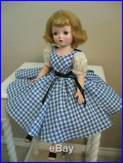 CISSY'S 1955 BLUE & WHITE CHECK DAY DRESS-PLEASE READ DESCRIPTION (No Doll)