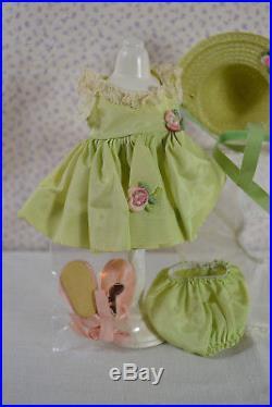 Circa 1950's Tagged Madame Alexander Kins Mint Green Taffeta Dress