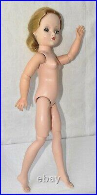 Cissy Doll, Alexander 1950s Blonde in Red Cotton Dress