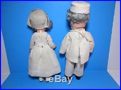 Dionne Quintuplets Dr. Dafoe Nurse Dolls Composition Vintage