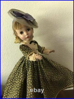 Early Vintage Madame Alexander Doll Hard Plastic 14 Little Women Jo Rare Hat