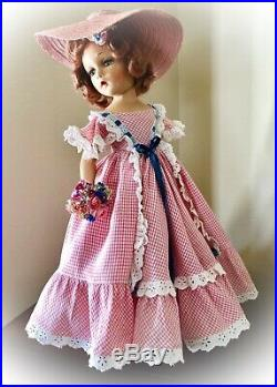 Extremely Rare & HTF 21 Vintage Madame Alexander SOUTHERN GIRL withWendy Ann Face
