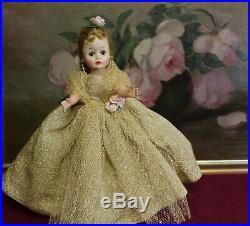 FABULOUS MADAME ALEXANDER 1950's Blonde Cissette Gold Gown