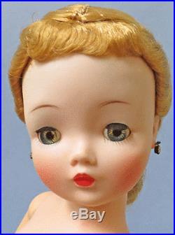 Gorgeous 1957 Blonde Cissy Wearing Only Rhinestone Earrings
