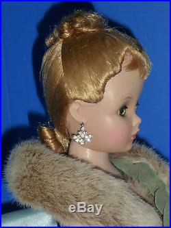 GORGEOUS 20 Madame Alexander CISSY withFancy Hairdo/Original Rhinestone Earrings