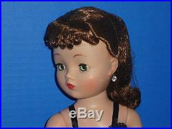 GORGEOUS 20 Madame Alexander Vintage CISSY in Black Teddy withWrist Tag & Hat Box