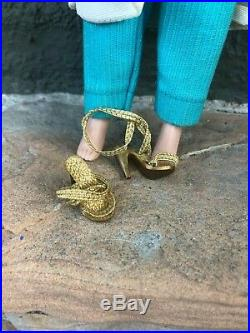 Gorgeous Madame Alexander Cissette tagged All Original 1950's Gold Shoes