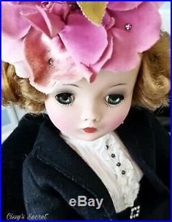HTF Madame Alexander Vintage Cissy Secretary Doll Circa 1957 Blue Eyes & Infused