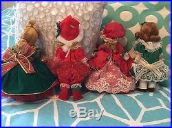 LOT of 4 Christmas Holiday MADAME ALEXANDER DOLLS 8