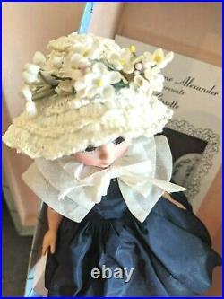 MADAME ALEXANDER 1957 CISSETTE IN #941 NAVY DRESS WithCAPLET ALL ORIG. NEAR MINT