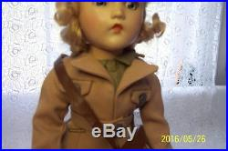 MADAME ALEXANDER COMPOSITION WAAC DOLL in COMPLETE TAGGED WWII 1943 UNIFORM