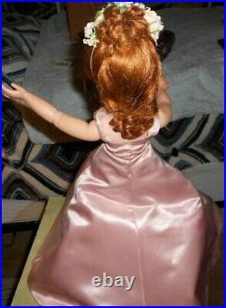 MADAME ALEXANDER Cissy 21 Ballgown Pink w Grey Stole/Flowers Vintage 1950s