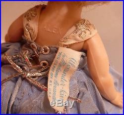 MADAME ALEXANDER Vintage Cinderella Dressed Wendy 8 Doll SLW Fuzzy shoes