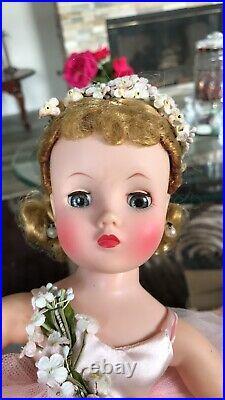 MADAM ALEXANDER DOLL VINTAGE 1950s 16in BLONDE HAIR BLUE EYES- ELISE BALLERINA
