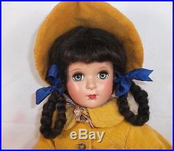 MARGARET O'BRIEN doll Madame Alexander 18 Hard Plastic 40's era pink jumper