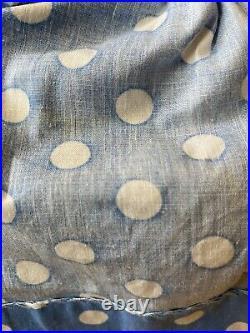 MA Brunette Cissy Doll in 1956 Blue Polkadot Sun Dress