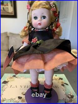 Madame Alexander 1956 Wendy Kin Wendy Has Fun Wearing Black Taffeta Pinafore