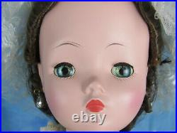 Madame Alexander Cissy Doll Brunette Pink Bridesmaid 1957 with Jewelry 1957 NM