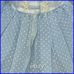 Madame Alexander Cissy Dress 1958 Vintage Light Blue Dotted Swiss Fits 20 Doll