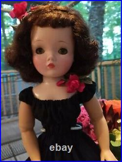 Madame Alexander Cissy about 1956 Brunette No Cracks, Stains, or Odors